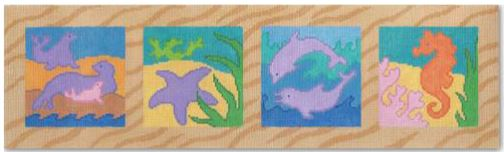 click here to view larger image of Seaside Panel  (hand painted canvases)