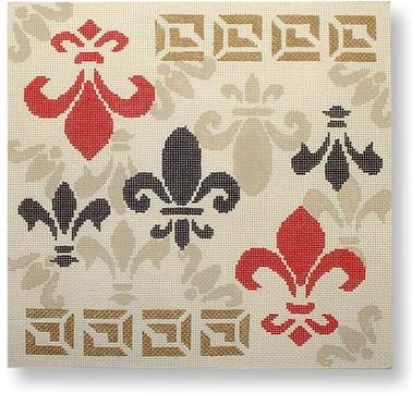 click here to view larger image of Fleur de Lis (hand painted canvases)
