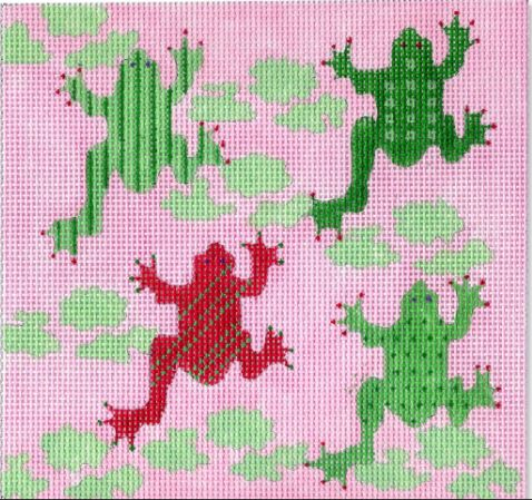 click here to view larger image of Frogs (hand painted canvases)