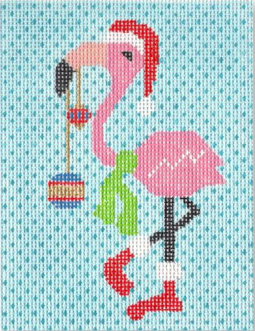 click here to view larger image of Decorated Flamingo (hand painted canvases)