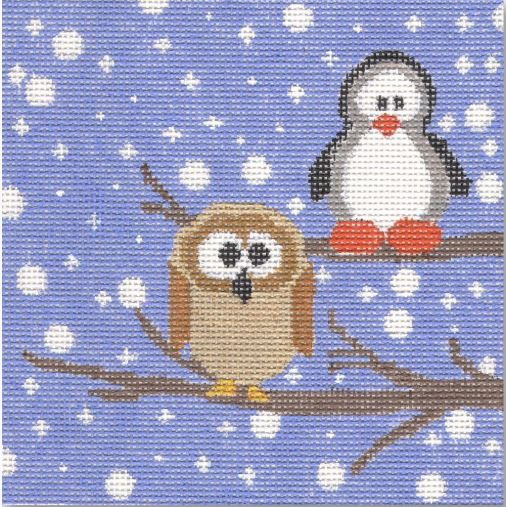 click here to view larger image of Owl and Friend (hand painted canvases)