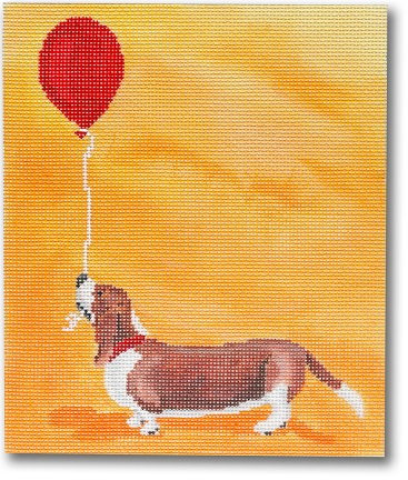 click here to view larger image of Its Your Day Dawg - Basset Hound (hand painted canvases)