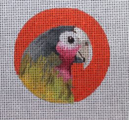 click here to view larger image of Green Parrot - Insert (hand painted canvases)