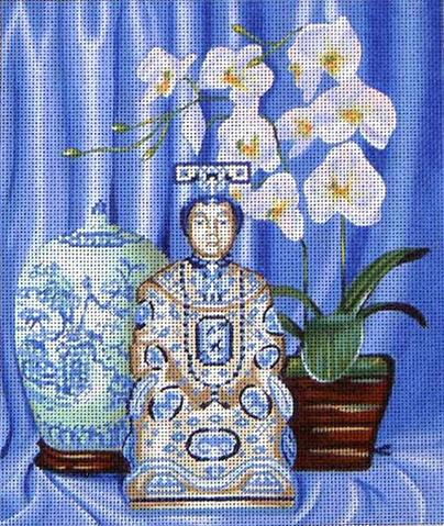click here to view larger image of Blue and White Still Life (hand painted canvases)