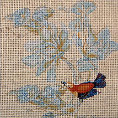 click here to view larger image of Birds and Morning Glory (hand painted canvases)