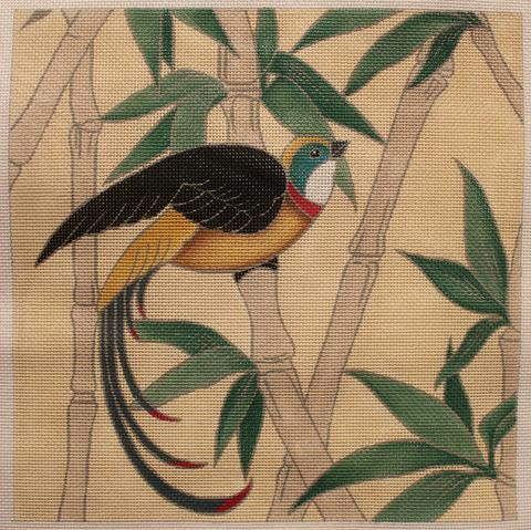 click here to view larger image of Birds on Bamboo #2 (hand painted canvases)