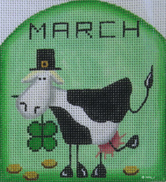 click here to view larger image of Moo Clover - March (hand painted canvases)