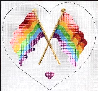 click here to view larger image of Pride Month Mini - Rainbow Flag June (hand painted canvases)