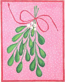 click here to view larger image of Mistletoe  (hand painted canvases)