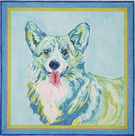 click here to view larger image of Welsh Corgi (hand painted canvases)
