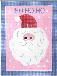 click here to view larger image of Ho Ho Ho Scandinavian Santa  (hand painted canvases)