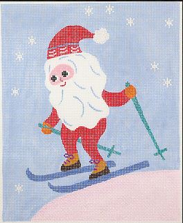 click here to view larger image of Scandinavian Skiing Santa  (hand painted canvases)
