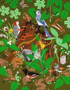 click here to view larger image of Woodland Wonders  (hand painted canvases)