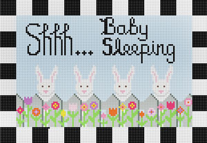 click here to view larger image of Baby Sleeping Bunnies (hand painted canvases)