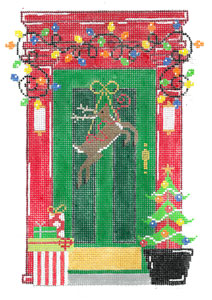 click here to view larger image of December Door (hand painted canvases)