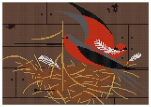 click here to view larger image of Barn Swallow (Red Birds) (hand painted canvases)
