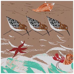 click here to view larger image of Beach Birds  (hand painted canvases)