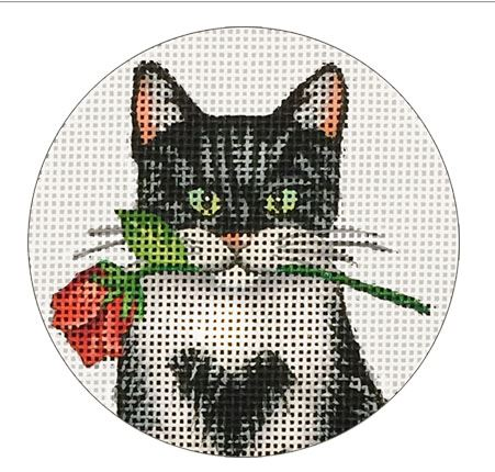 click here to view larger image of Rose Kitty      (hand painted canvases)