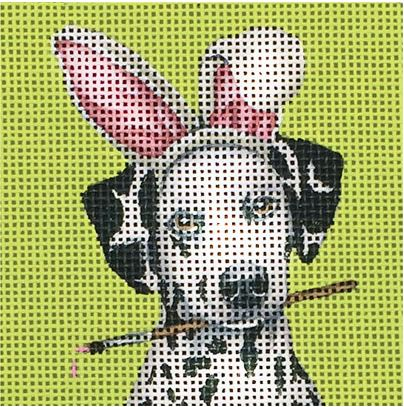 click here to view larger image of Easter Dalmation          (hand painted canvases)