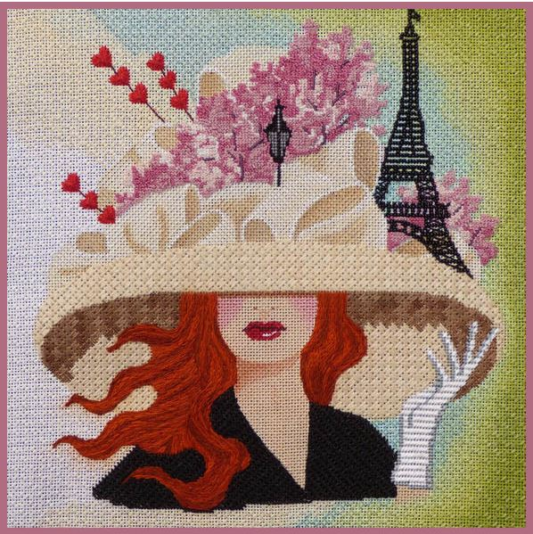 click here to view larger image of April in Paris (hand painted canvases)