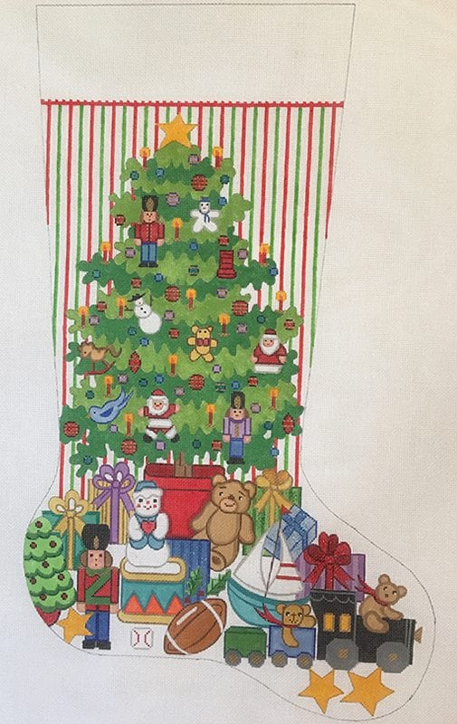 click here to view larger image of Christmas Stocking - Toys for Boys (hand painted canvases)