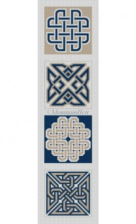 click here to view larger image of Celtic Knots  (hand painted canvases)