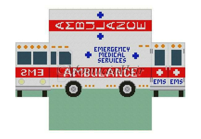 click here to view larger image of Ambulance Brick Cover  (hand painted canvases)