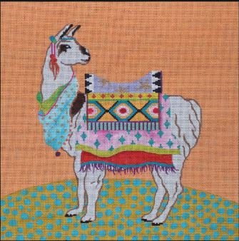 click here to view larger image of Llama (hand painted canvases)