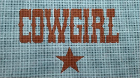 click here to view larger image of Cowgirl (hand painted canvases)
