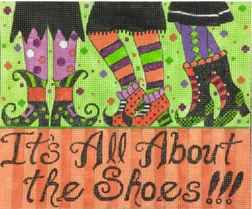 click here to view larger image of All about the Shoes (hand painted canvases)