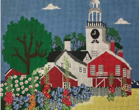 click here to view larger image of Nantucket Scene (hand painted canvases)