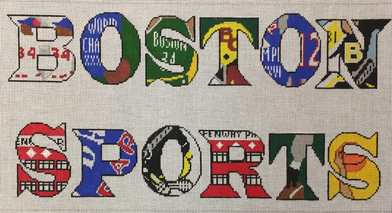 click here to view larger image of Boston Sports (hand painted canvases)