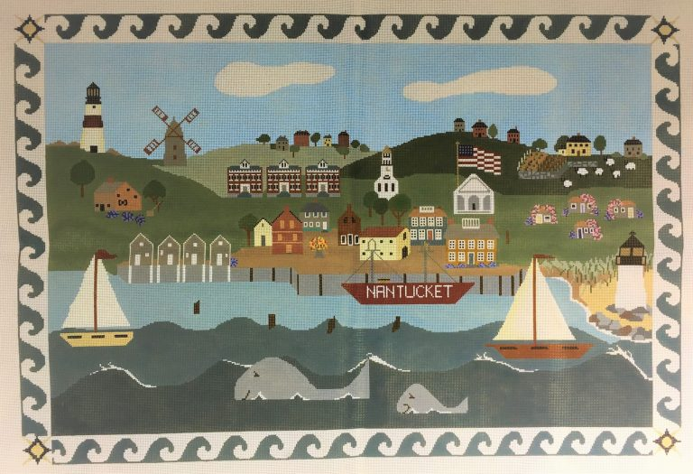 click here to view larger image of Nantucket Rug (hand painted canvases)