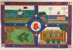 click here to view larger image of Red Sox Collage Rug (hand painted canvases)