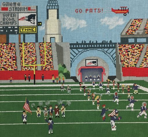 click here to view larger image of New England Patriots (hand painted canvases)