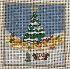 click here to view larger image of Make Way for Ducklings Christmas (hand painted canvases)