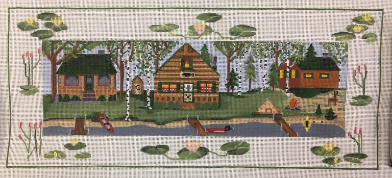 click here to view larger image of Lake House Cabins (hand painted canvases)