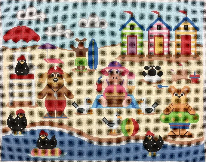 click here to view larger image of Beach Party Palooza (hand painted canvases)