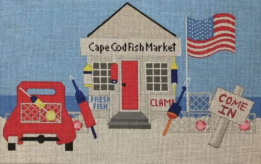 click here to view larger image of Cape Cod Fish Market (hand painted canvases)