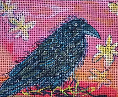 click here to view larger image of Raven at Sunset (hand painted canvases)
