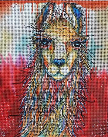 click here to view larger image of Llama Drama (hand painted canvases)
