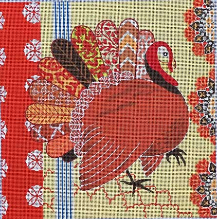 click here to view larger image of Boha Turkey  (hand painted canvases)