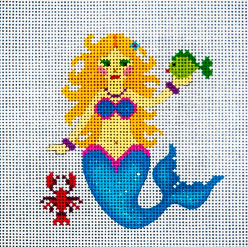 click here to view larger image of Blonde Mermaid (hand painted canvases)