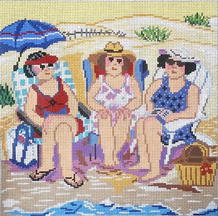 click here to view larger image of Beach Friends (hand painted canvases)
