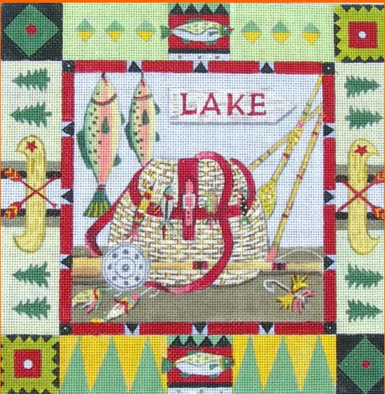 click here to view larger image of Lodge Lake (hand painted canvases)