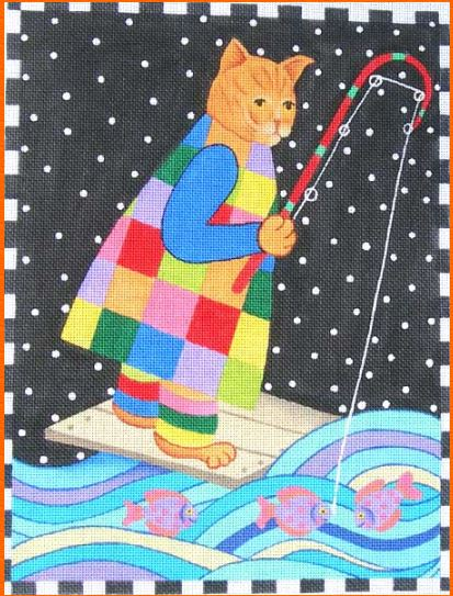 click here to view larger image of Night Fishing (hand painted canvases)