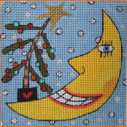 click here to view larger image of Christmas Moon (hand painted canvases)