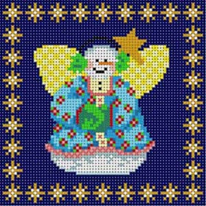 click here to view larger image of Snow Angel Ornament (hand painted canvases)