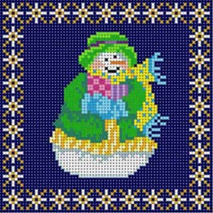 click here to view larger image of Snow Woman Ornament (hand painted canvases)