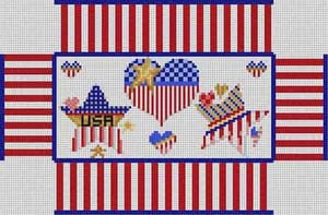 click here to view larger image of Patriotic Brick (hand painted canvases)